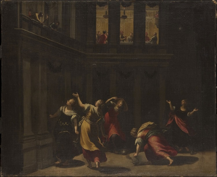 The Parable of the Wise and Foolish Virgins  , 18th Century, Copy after Tintoretto (Jacopo di Giovanni Battista Robusti), Italian, from the  Philadelphia Museum of Art