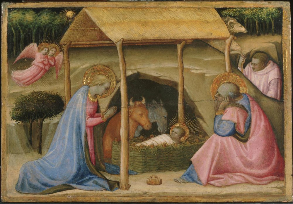 Nativity,       Late 1420s - early 1430s,Paolo Schiavo, Italian from the  Philadelphia Museum of Art