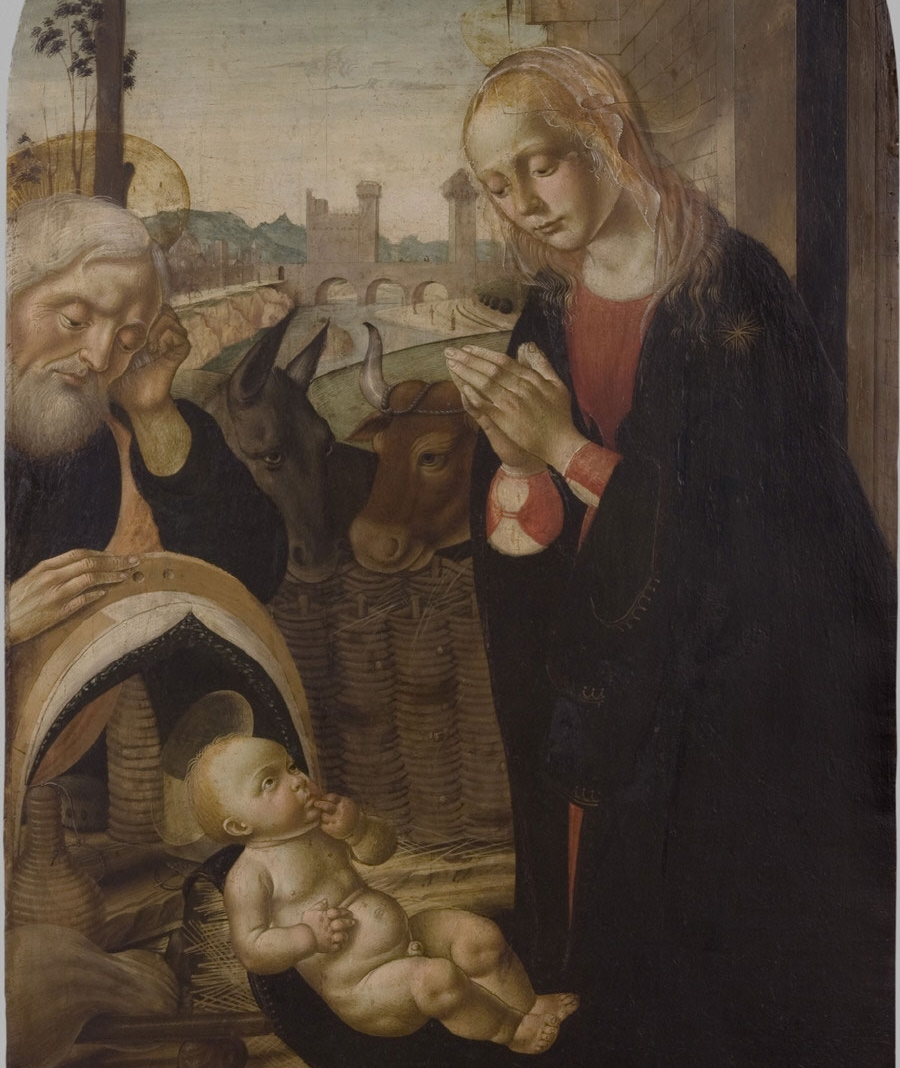 The Adoration of the Christ Child,  Late 15th Cenutry ,Biagio d'Antonio da Firenze, Italian , from the  Philadelphia Museum of Art