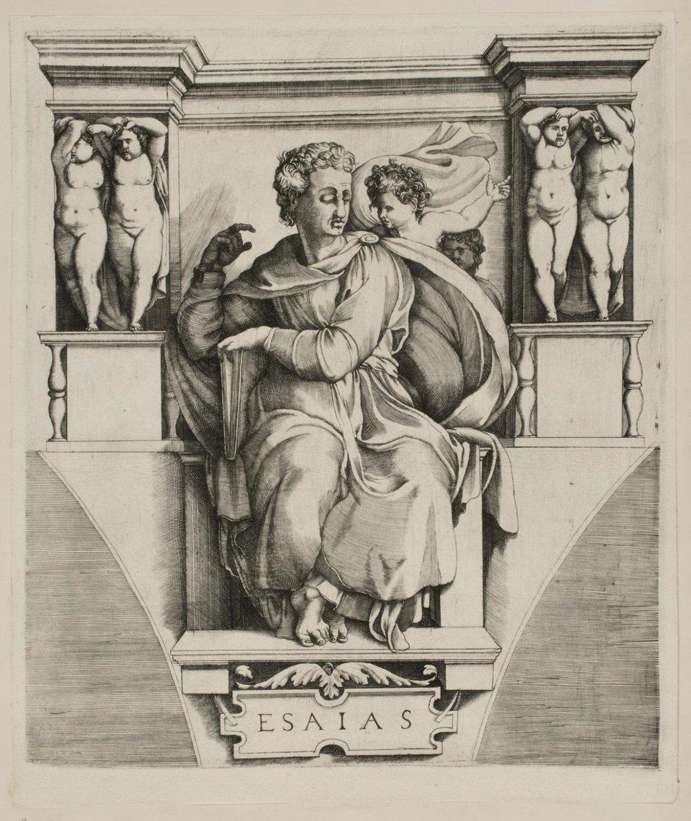 The Prophet Isaiah,    Mid 16th century , Enea Vico, Italian, from the  Philadelphia Museum of Art