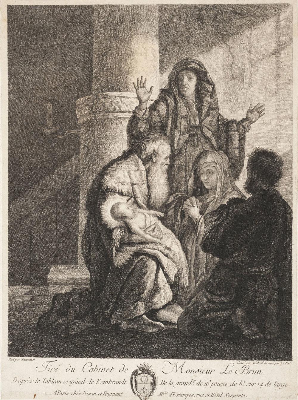 Presentation in the Temple,   c. 1770s, Carl Wilhelm Weisbrod, German, from the  Philadelphia Museum of Art