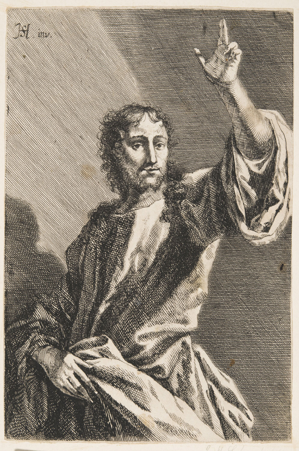 Christ Blessing,   Late 17th - early 18th century, Gabriel Ehinger, German, from the  Philadelphia Museum of Art