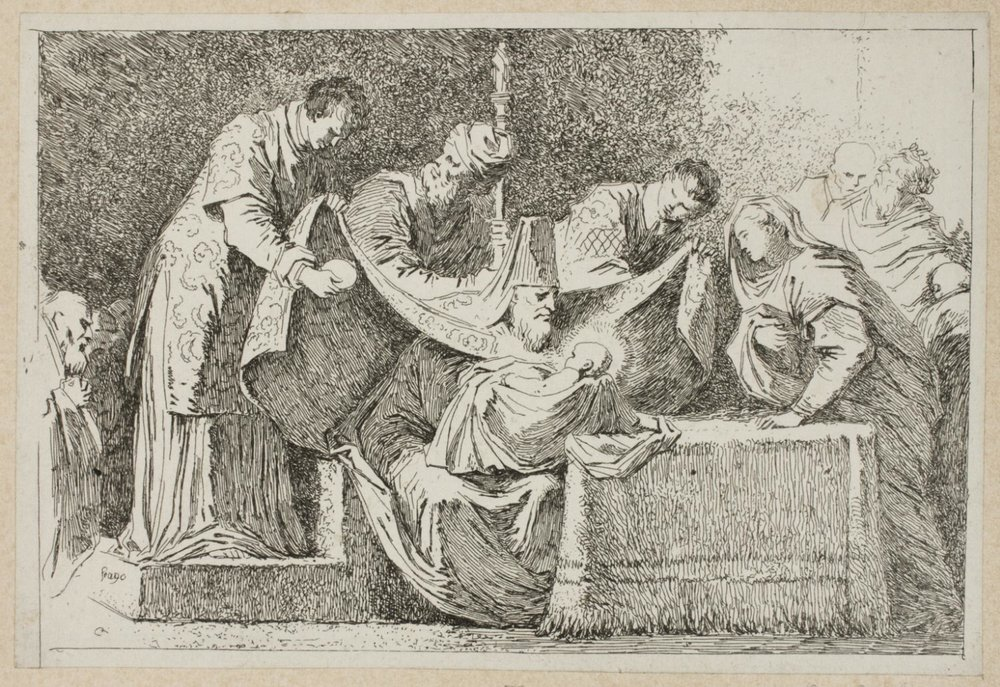 The Circumcision,   1763-1764,Jean-Honoré Fragonard, French, from the  Philadelphia Museum of Art