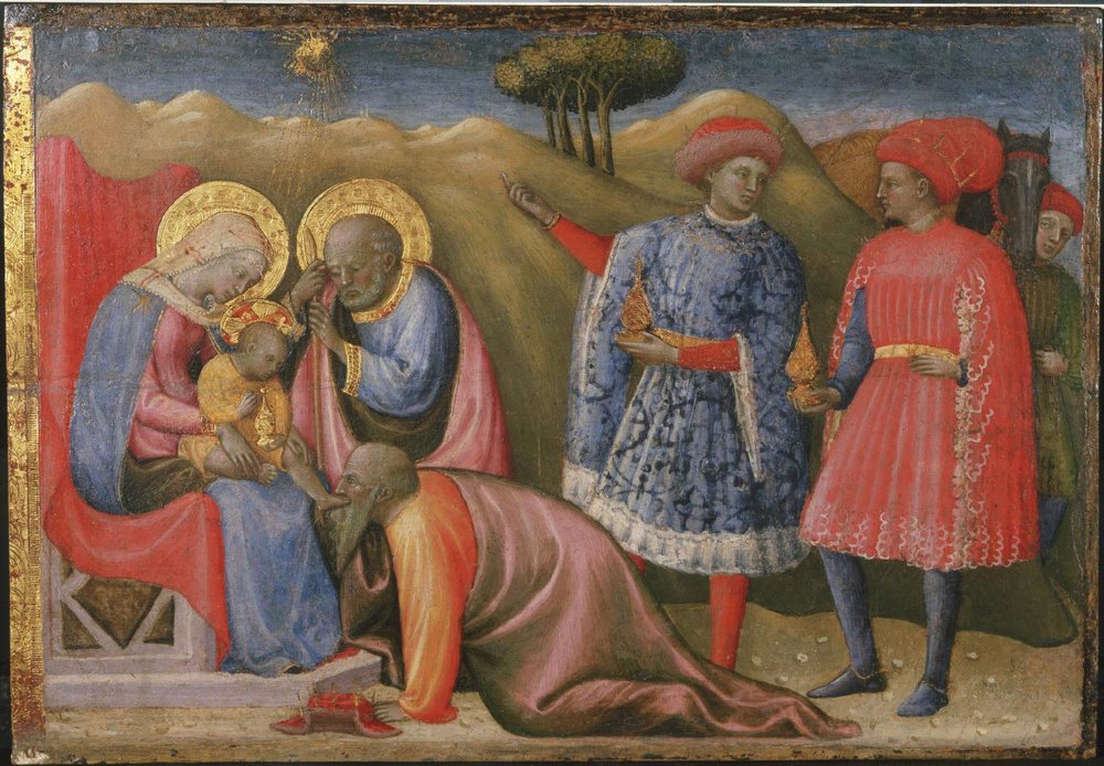 Adoration of the Magi  ,Late 1420s - early 1430s, by Paolo Schiavo, Italian from the  Philadelphia Museum of Art