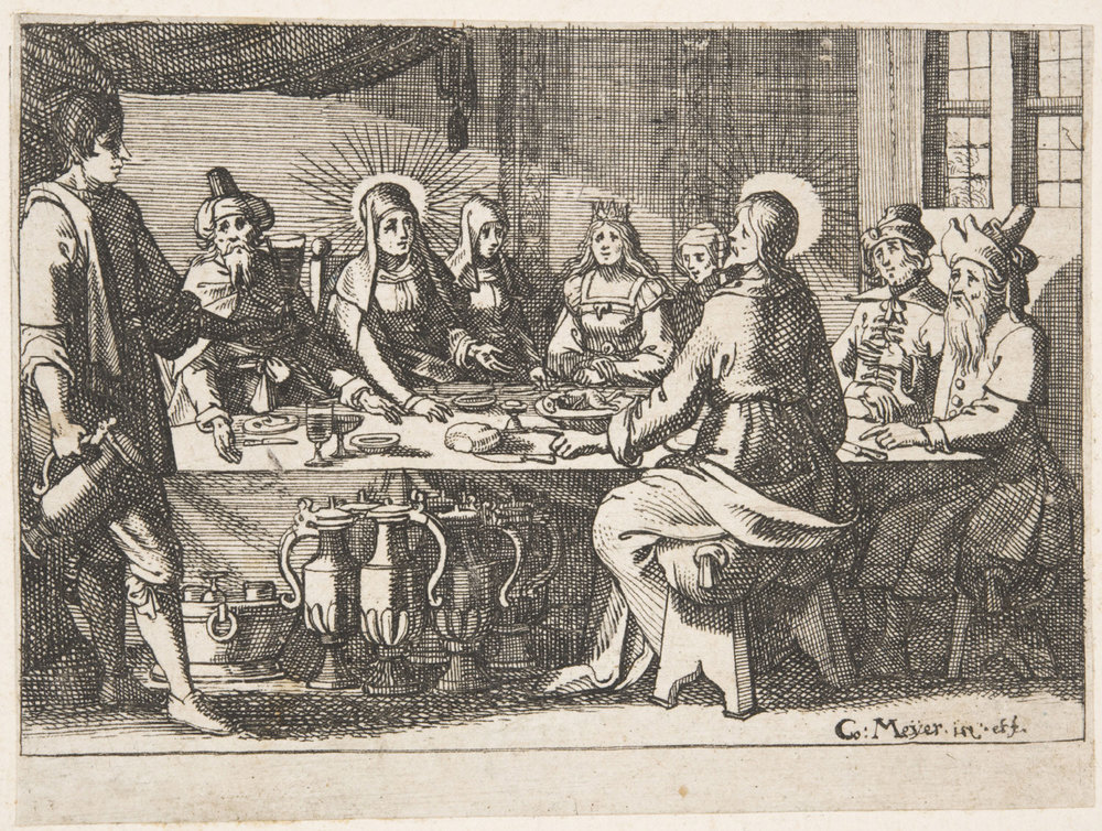The Wedding at Cana  , Mid- 17th century, by Conrad Meyer, Swiss, from the  Philadelphia Museum of Art