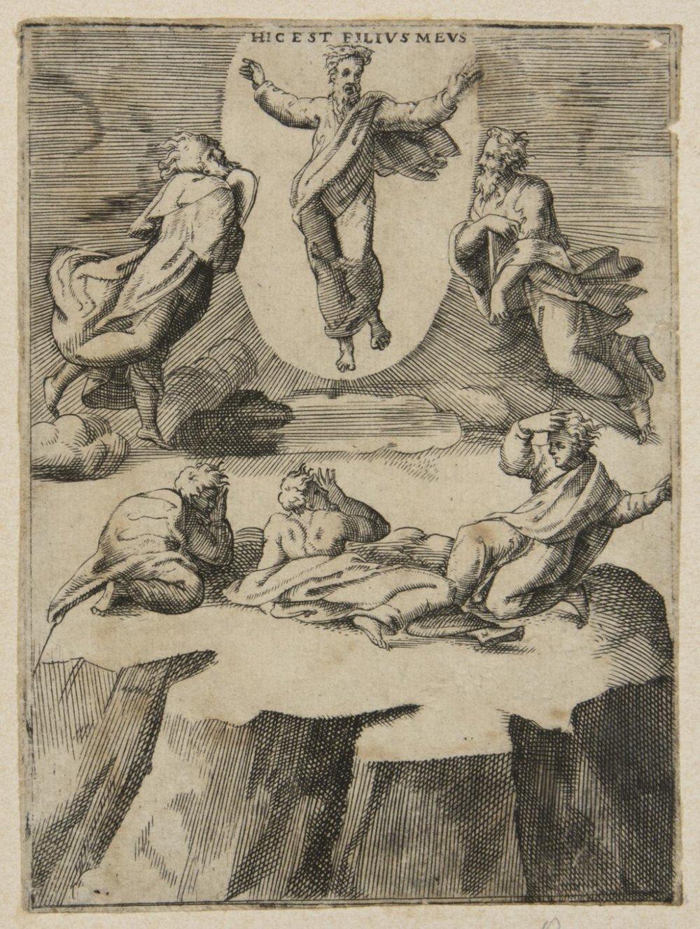 Transfiguration  , Late 1540s-1550s, by Giulio Bonasone, Italian from the  Philadelphia Museum of Art