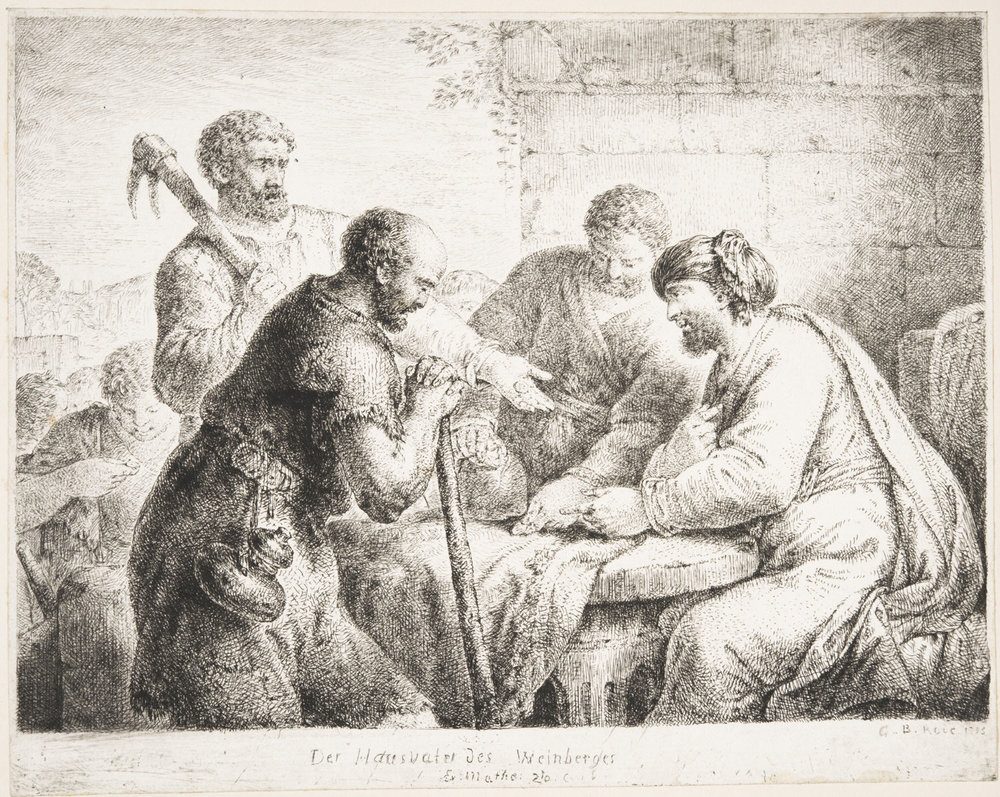 The Parable of the Vineyard Workers  , 1775, by Christian Bernhard Rode, German from the  Philadelphia Museum of Art