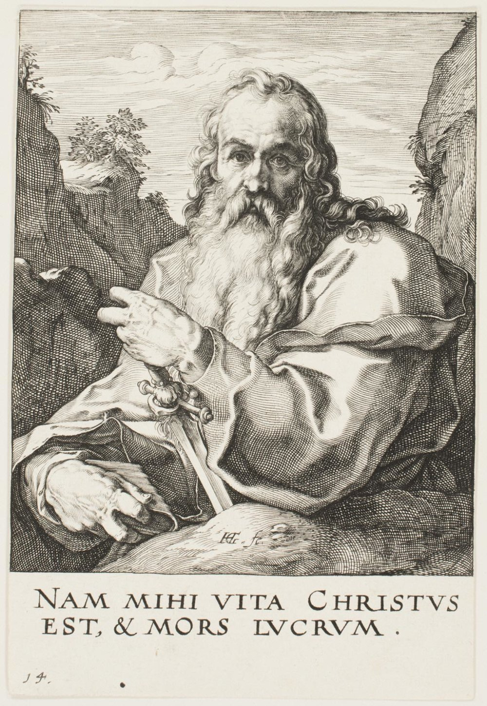 St. Paul  , c. 1589, by Hendrick Goltzius, Dutch from the  Philadelphia Museum of Art
