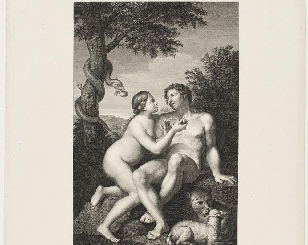 Adam and Eve in Paradise  , 1803, by Jean-Antoine Pierron, French from the  Philadelphia Museum of Art