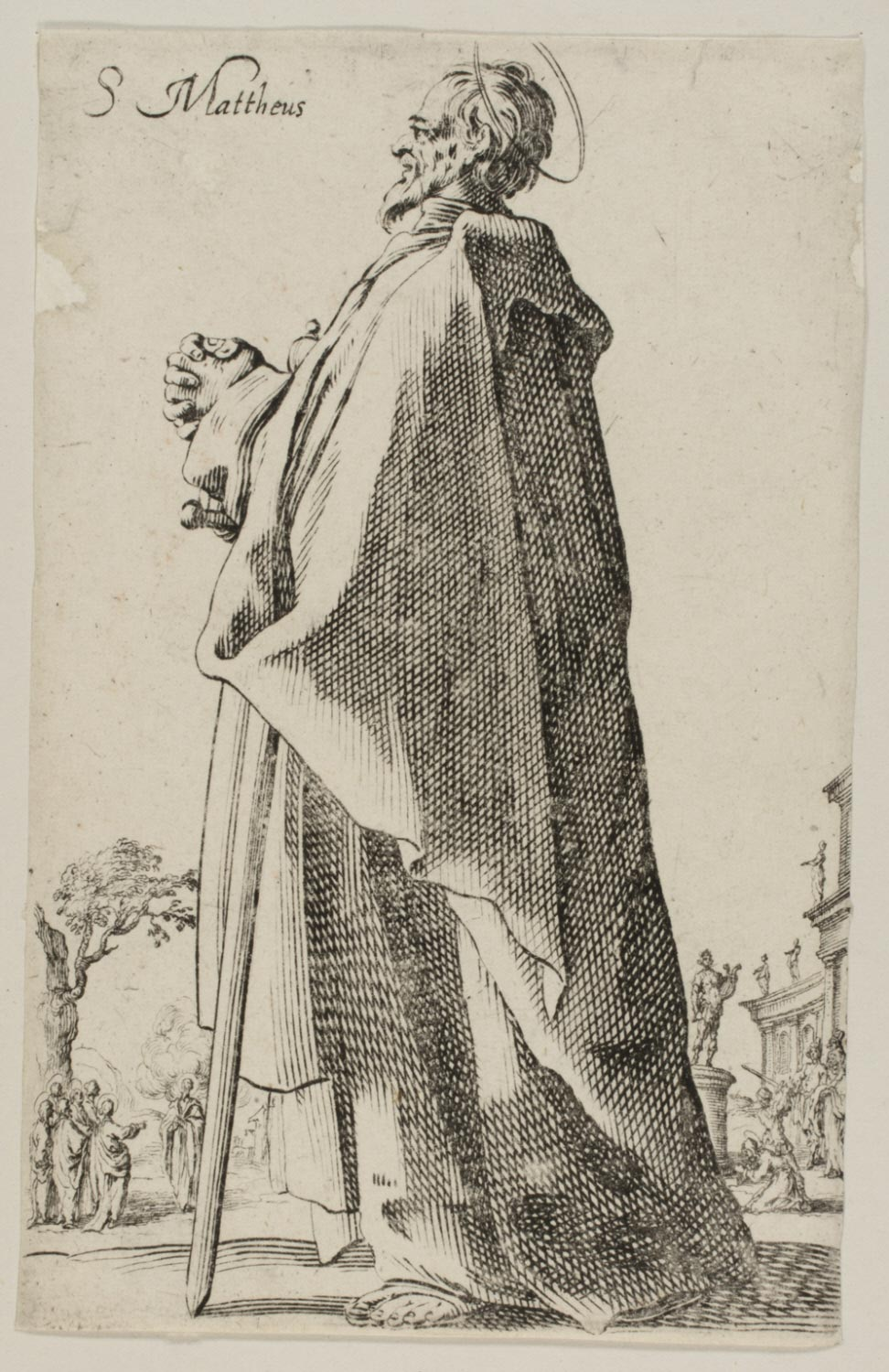 St. Matthew  , after 1631, Copy after Jacques Callot, French, from  the Philadelphia Museum of Art