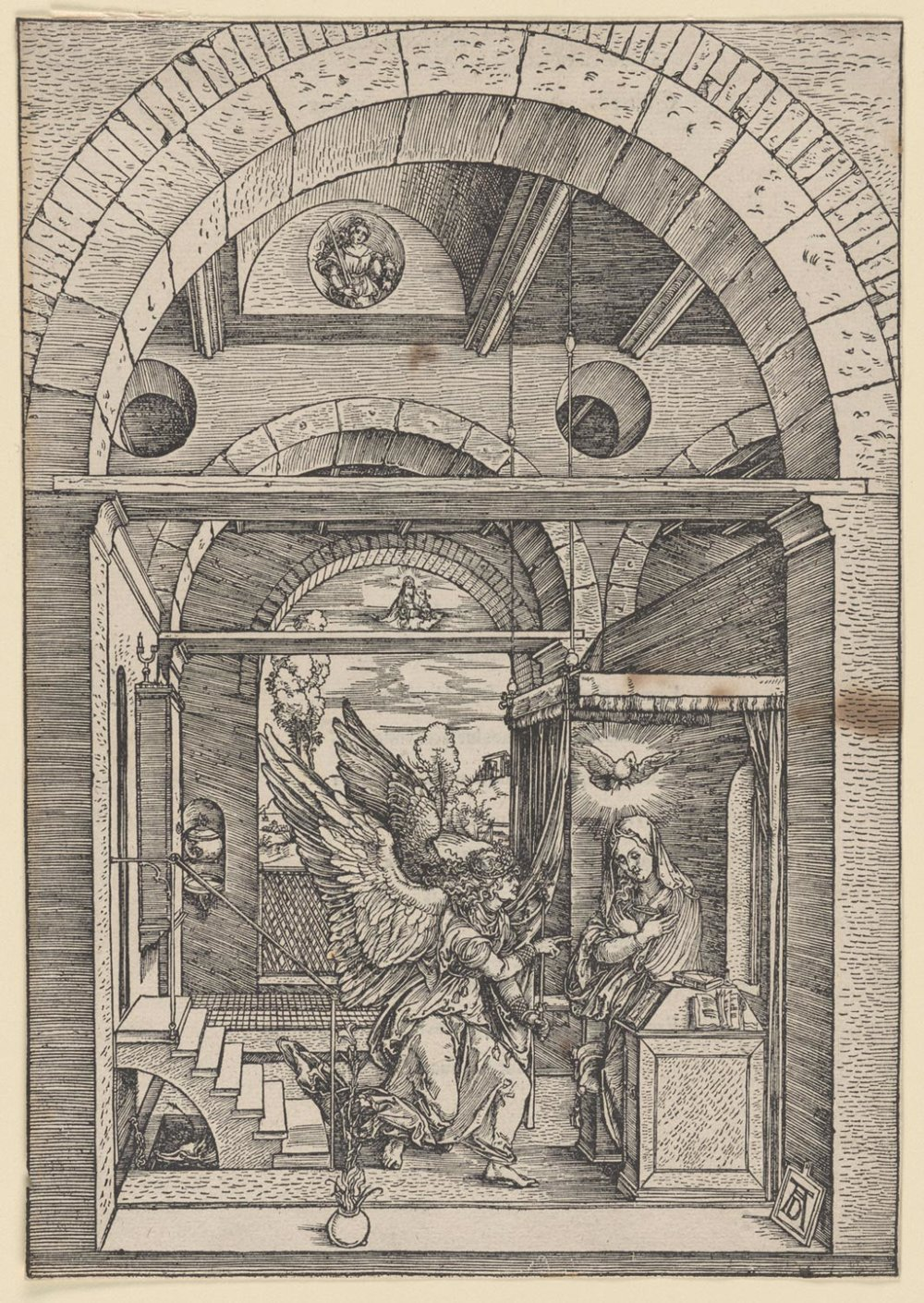 The Annunciation  , c. 1503, Albrecht Dürer, German, from  the   Philadelphia Museum of Art