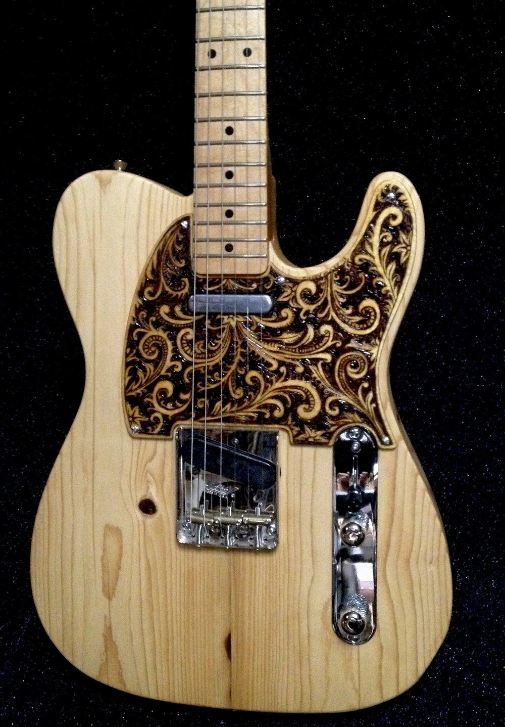 Pyrography guitar