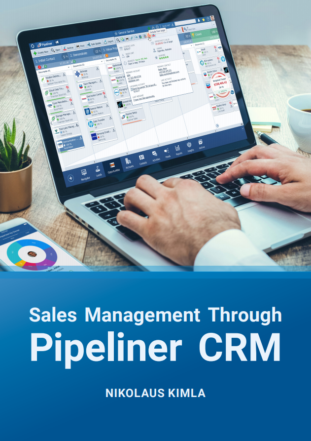 Sales Management Through Pipeliner CRM - Author of this ebook, Nikolaus Kimla gets very specific, dealing with sales management through CRM. He personally believes (as do a lot of experts today) that utilizing a CRM is the only way to manage a sales team—and in fact it is practically impossible to manage one without it.There is no system in the industry today like Pipeliner CRM, one that empowers precision sales management through CRM. Therefore we can truly say that Pipeliner CRM is the only really effective tool available today in the market.In this book we break sales management through CRM down into 4 basic functions, with a chapter covering each.