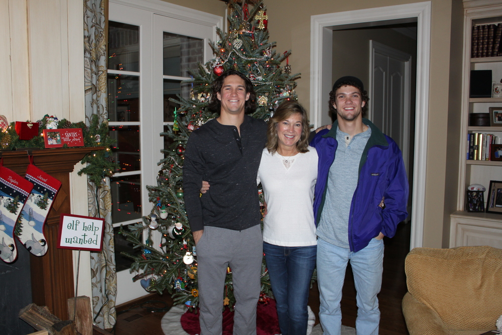 Me and my boys (my gratitude) at Christmas