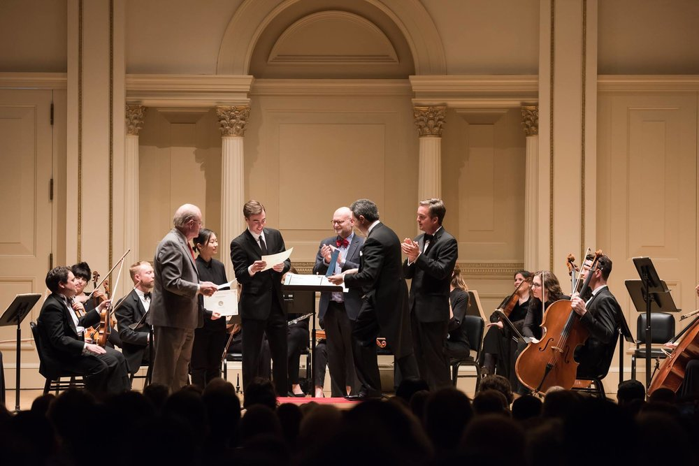 Recognition at Weill Recital Hall at Carnegie Hall in New York City on June 8, 2017.
