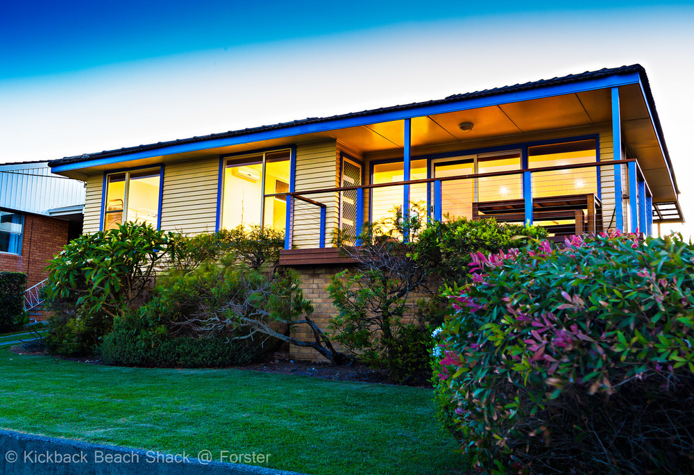 Forster Pet Friendly Accommodation and Holiday House NSW the lawn