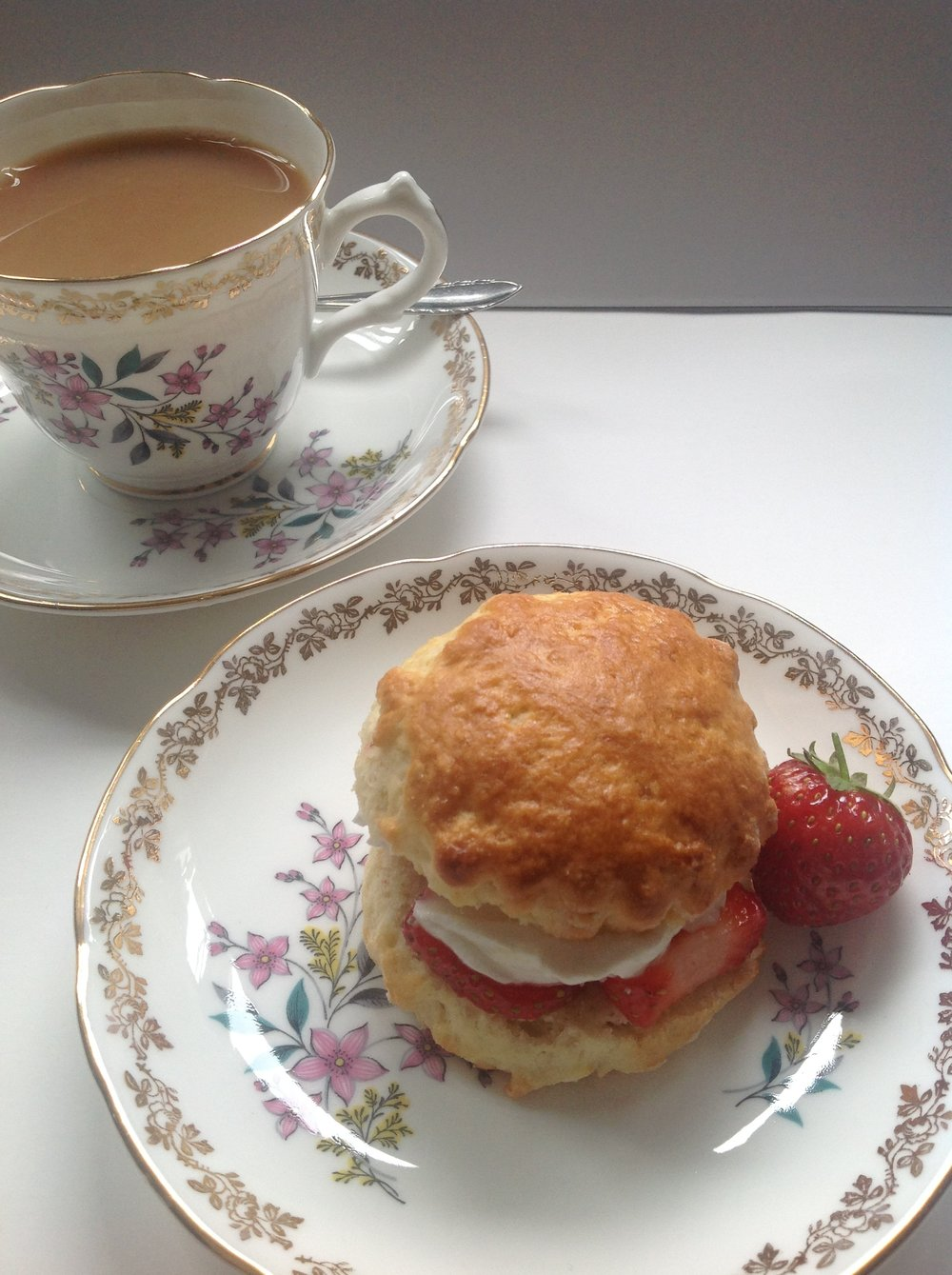 Scone with Strawberries and Clotted Cream