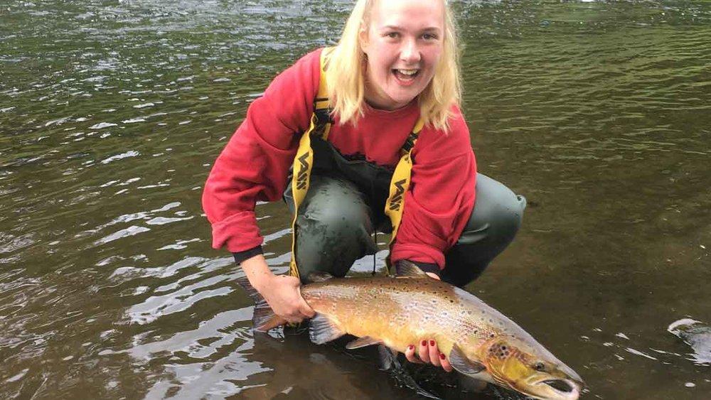 Mary's 1st fish!