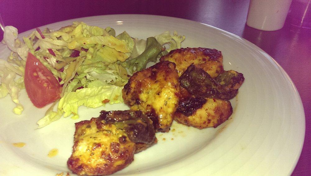 Chicken Skewer starter. £4.95
