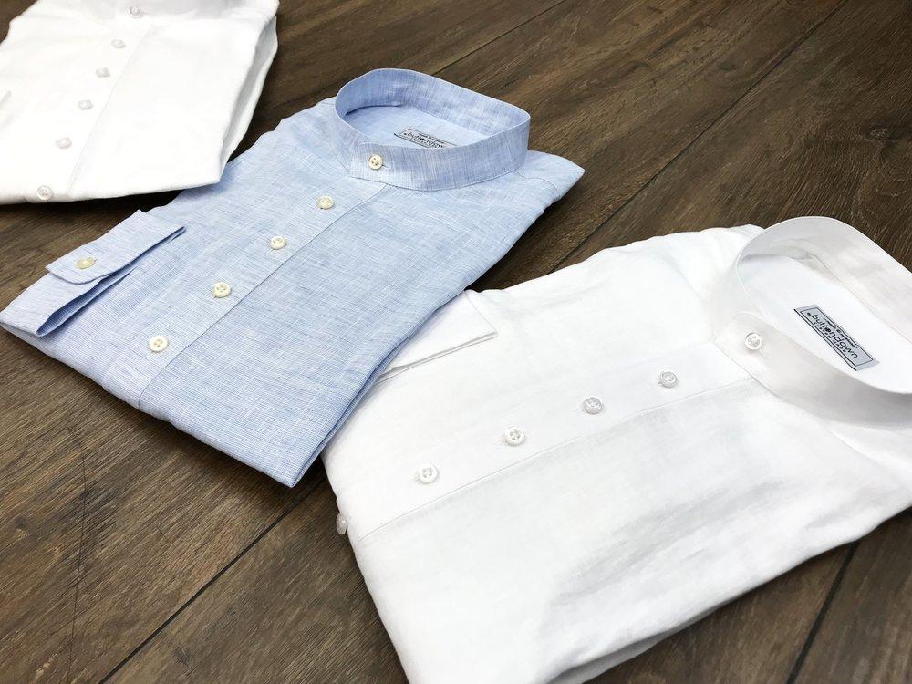Schlüpfhemd - Lockeres Schlüpfhemd mit 6 Knöpfen an der Knopfleiste.Stoffe: 100% Leinen, luftig, leicht.