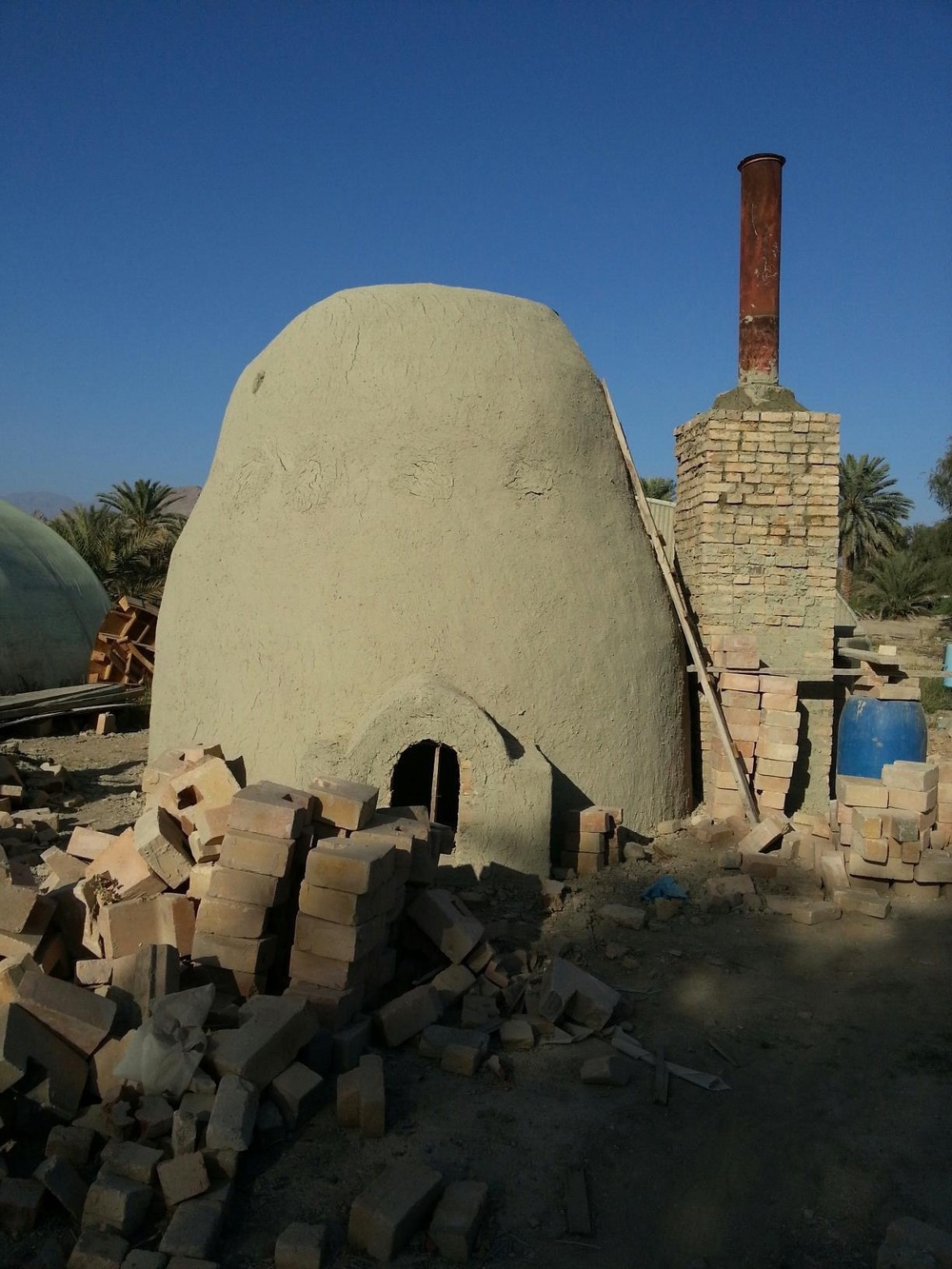 Clay oven, just newly built.jpg