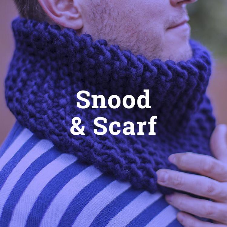 Snood Scarf Knitting Pattern Knit Aid