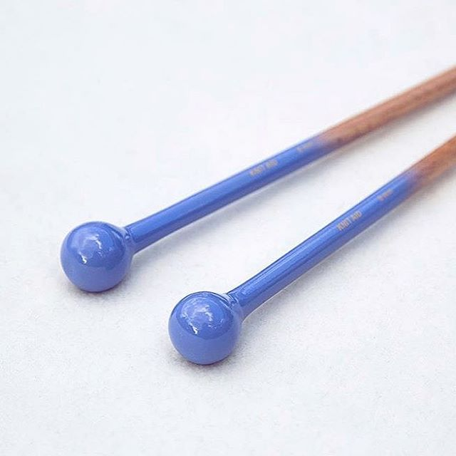 Knit Aid's 8mm solid wood indigo-dipped knitting needles 😍🙌 knitaid.org/shop