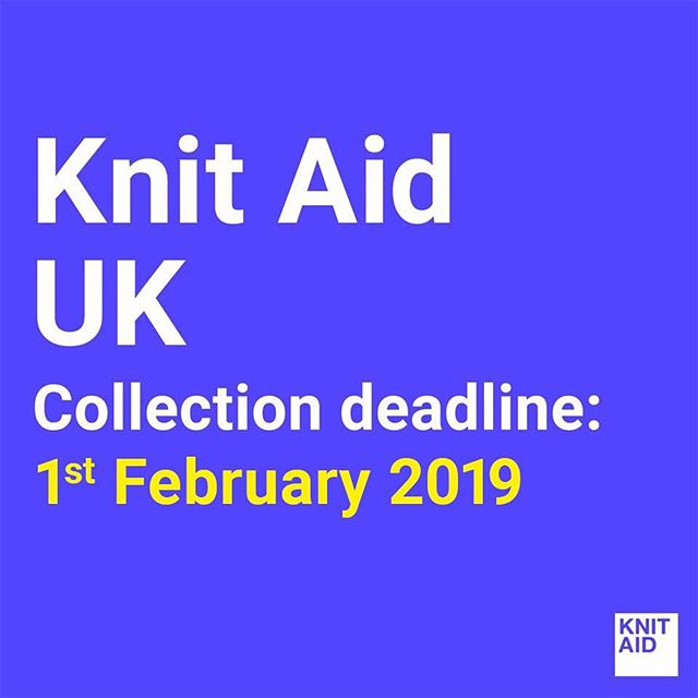 Knit Aid UK new collection deadline is OPEN!  1st February 2019 All details: www.knitaid.org/uk1 (link in bio)  Please note, this collection could be the final collection for a while as we work on building Knit Aid into a more sustainable initiative so that we are able to collect and distribute donations more effectively and most importantly, truly empower refugees while doing so. Watch this space! And please send in all your knits by the date above.  Happy New Year wonderful Knit Aiders!  #knitaid #knitaidforrefugees #knitforrefugees