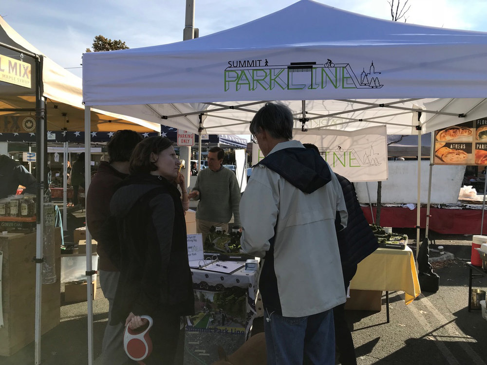 Educating Summit residents at the Summit Farmer's Market