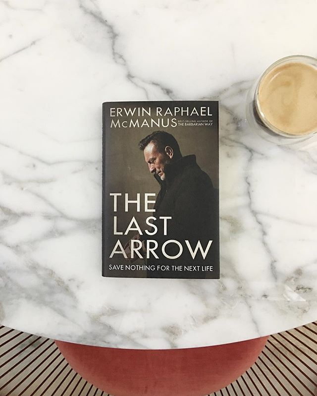 """Congrats to @erwinmcmanus on his latest work of art. new """"The Last Arrow"""" I will be hosting a book club at my salon Oct 2. DM if your interested"""