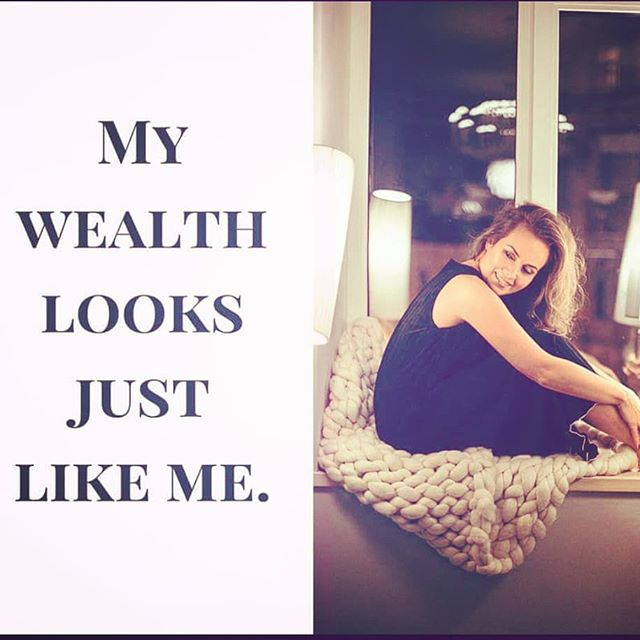 Wealthy Wednesday Mantra: My wealth looks just like me.  In yesterday's Talk-o Tuesday I discussed how important it is to feel that you JUST AS YOU ARE NOW are ready and deserving of wealth. Your body, your business, your ideas, your values, your heart- all the things that will stay with you as you evolve and grow- they are already ready and worthy of the wealth you desire.  So what does wealthy you look like? Look in the mirror, there she is.