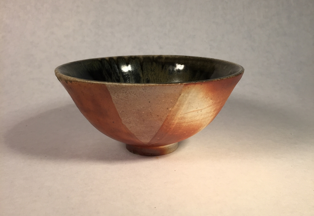 Wheel thrown, wood fired bowl.