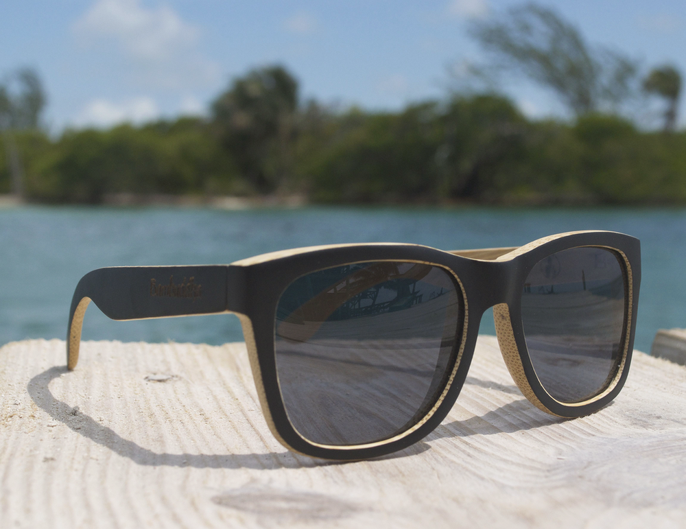 Bamboo Sunglasses - Dark Summer
