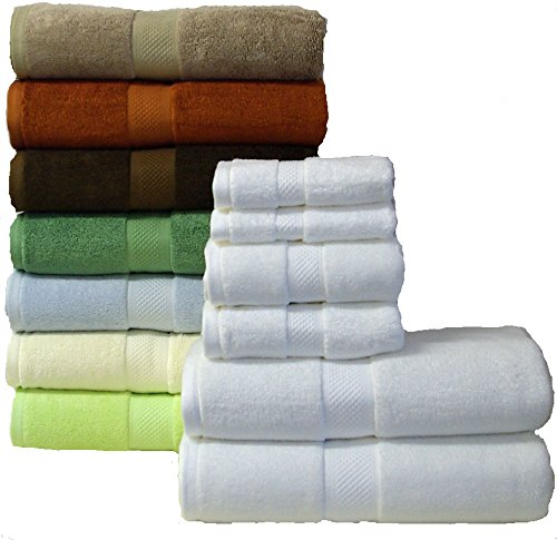 Ultra Soft 6 Piece Silky Bamboo Towel Set, Bamboo Blend Set Inludes Two Bath Towels, Two Hand Towels & Two Wash Cloths, Taupe Set