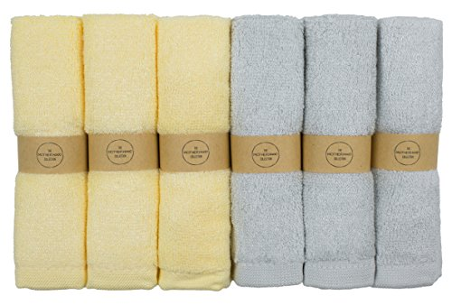 "The Motherhood Collection 6 ULTRA SOFT Baby Bath Washcloths, 100% Natural Bamboo Towels, Gender Neutral, Perfect for Sensitive Baby Skin, 6 Pack 10""x10"""