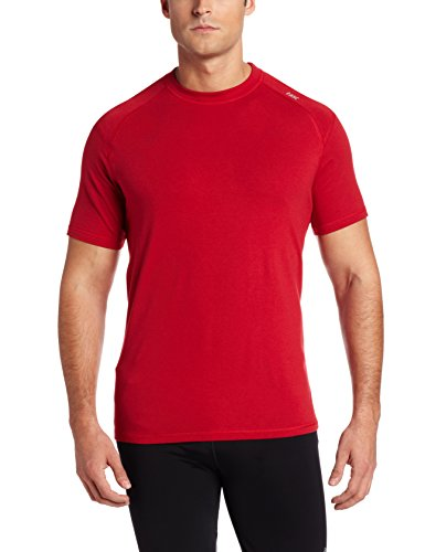 Tasc Performance Men's Carrollton Performance Running Fitness Crew-Neck T-Shirt   55% Organic Cotton, 40% Viscose from Bamboo, 5% Elastane