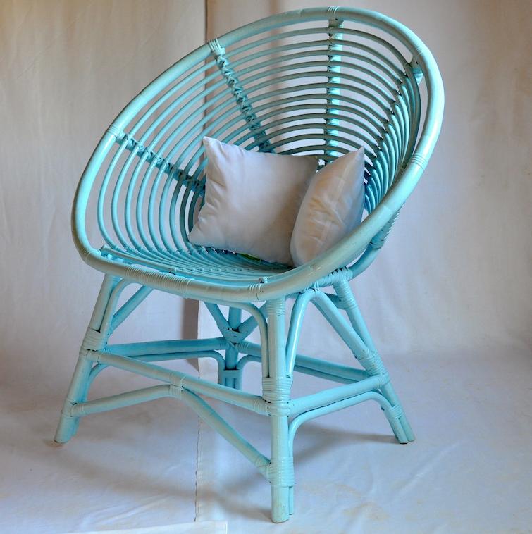 rattan coil chair