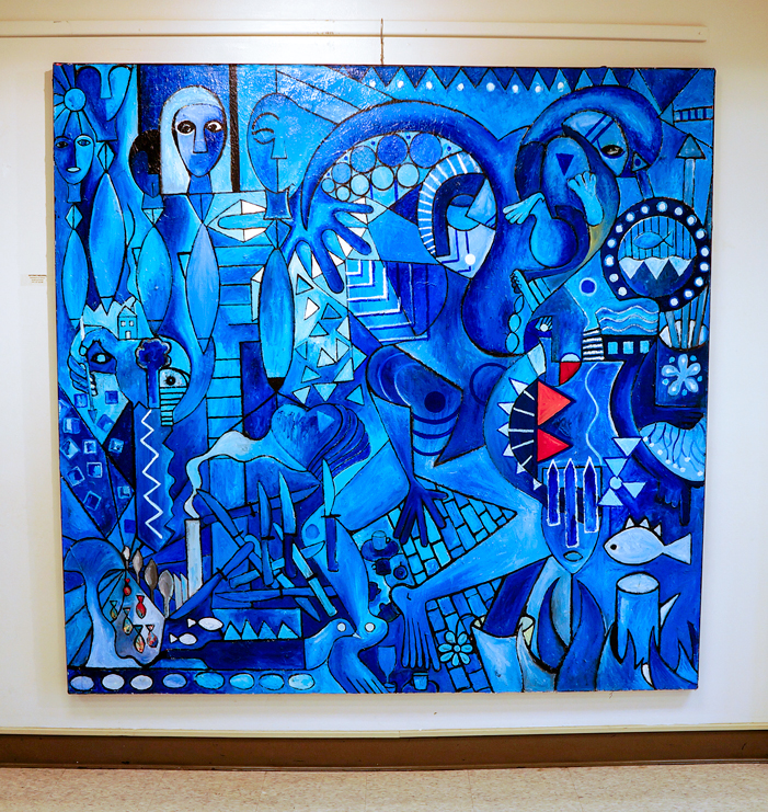 "Petrolium On Canvas, 2005. 74 x 72"" acrylic on canvas"
