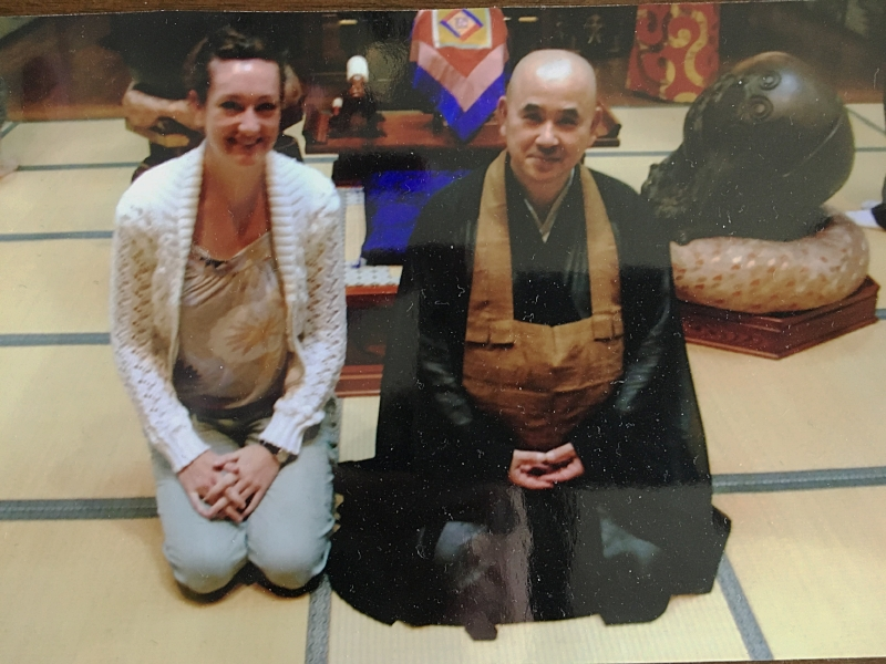 Circa 2006 during my first meditation retreat in Tokyo, Japan.