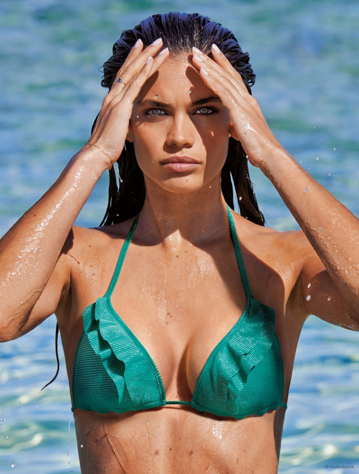 26e692771d Sara Sampaio Seduces In Calzedonia's 2015 Swimsuits, Snapped By Mariano  Vivanco