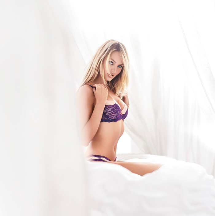 Candice Swanepoel   Romee Strijd Debut Dream Angels 2015 Collection ... 8bbc7df38