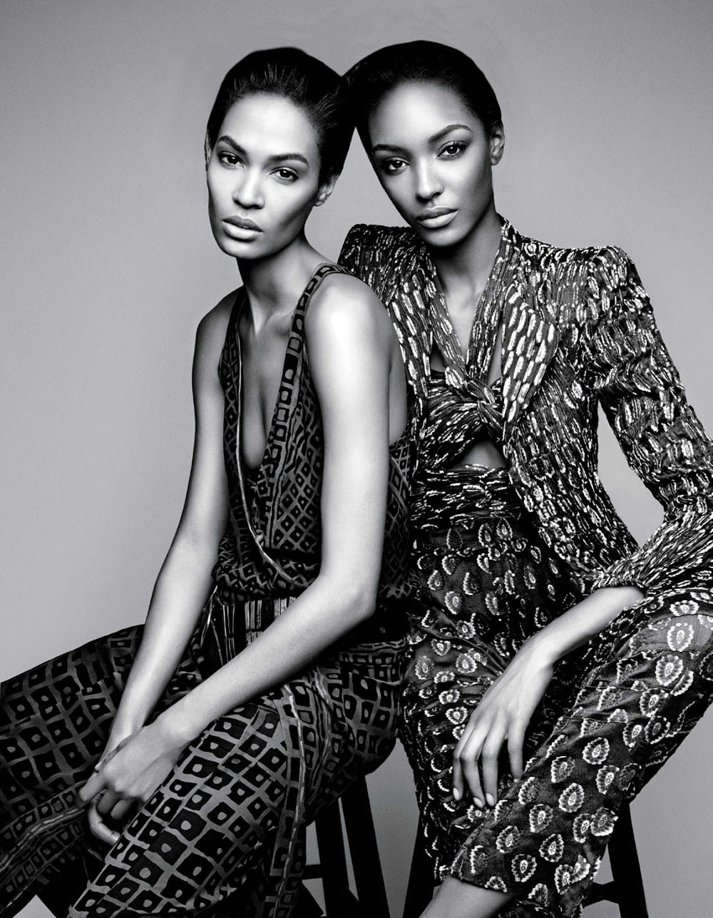 Jourdan dunn joan smalls in 39 spare me 39 by patrick for A b mackie salon