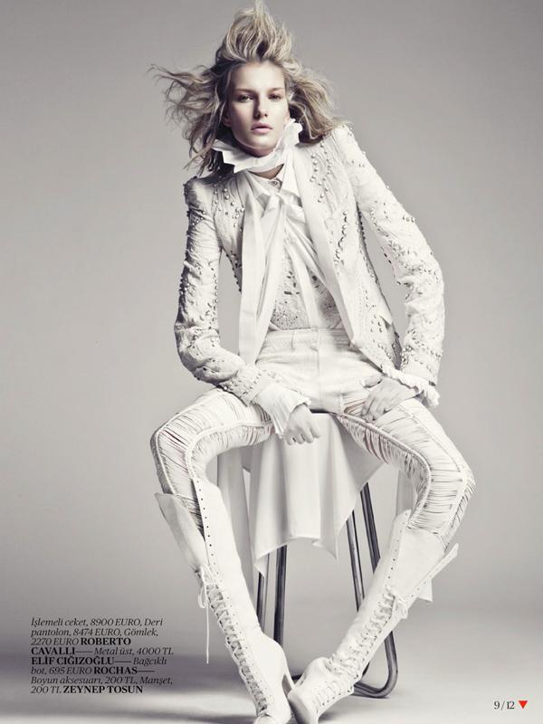 Emre Unal Shoots An All White Marique Schimmel For Vogue