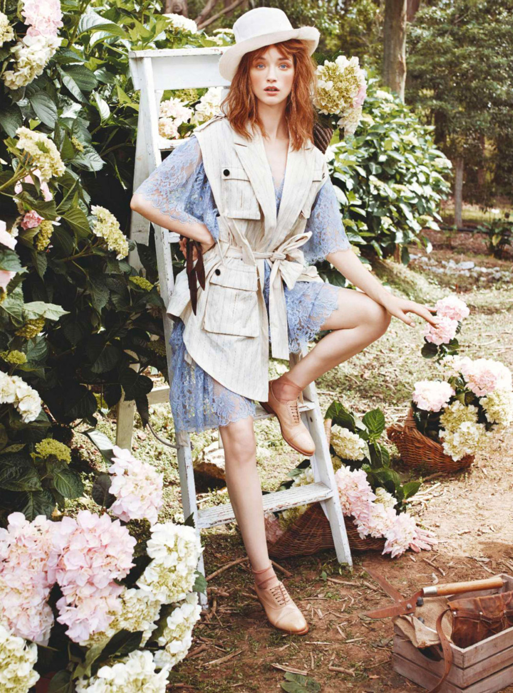 Olivia o 39 driscoll blooms for marie claire australia february 2015 lensed by corrie bond anne for Olive garden fashion square mall