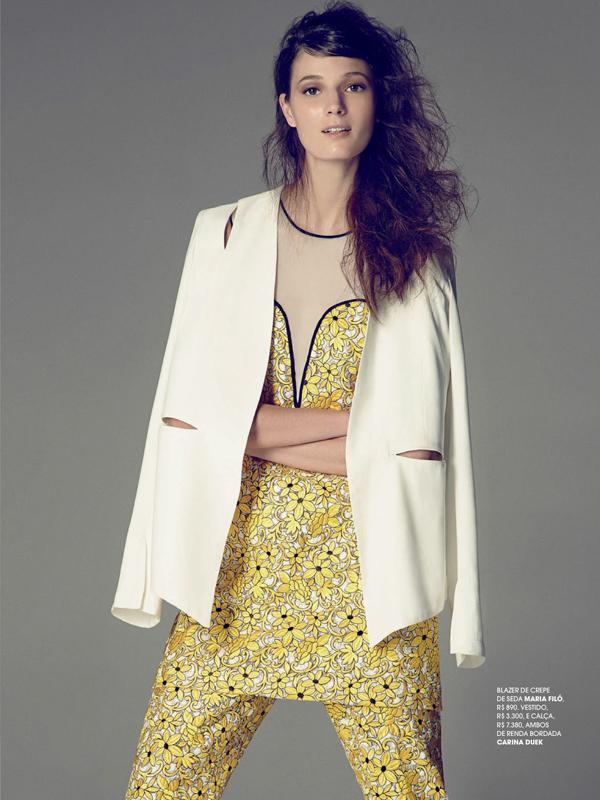 207fb46acaddf5 Debora Muller Suits Up For Tiago Molinos In Marie Claire Brasil ...