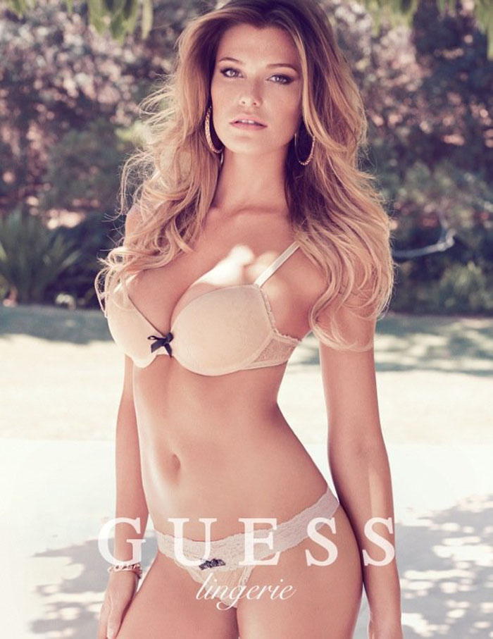 a4df5c50d76a7 Samantha Hoopes Sizzles In Guess Lingerie Spring 2014 Ads — Anne of ...
