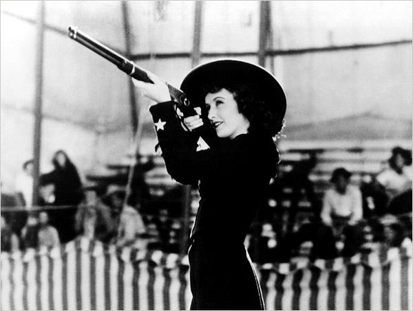 Barbara Stanwyck as Annie Oakley, 1935. via Everett Collection