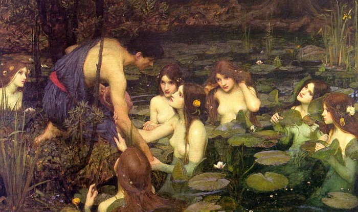 'Hylas and the Nymphs' by John William Waterhouse