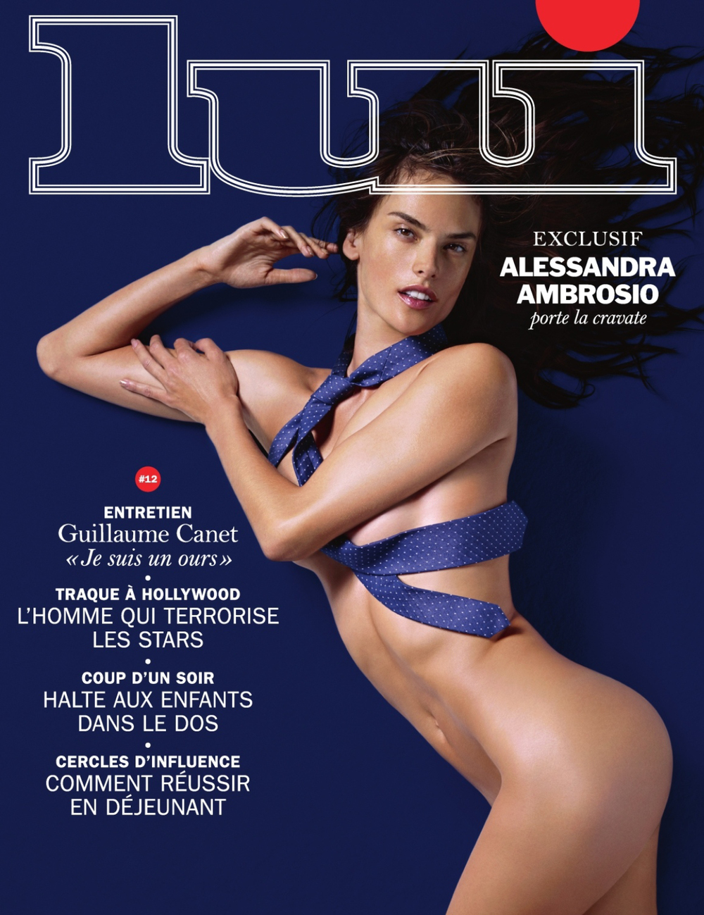 Alessandra Ambrosio Sells Ties For Lui Magazine November