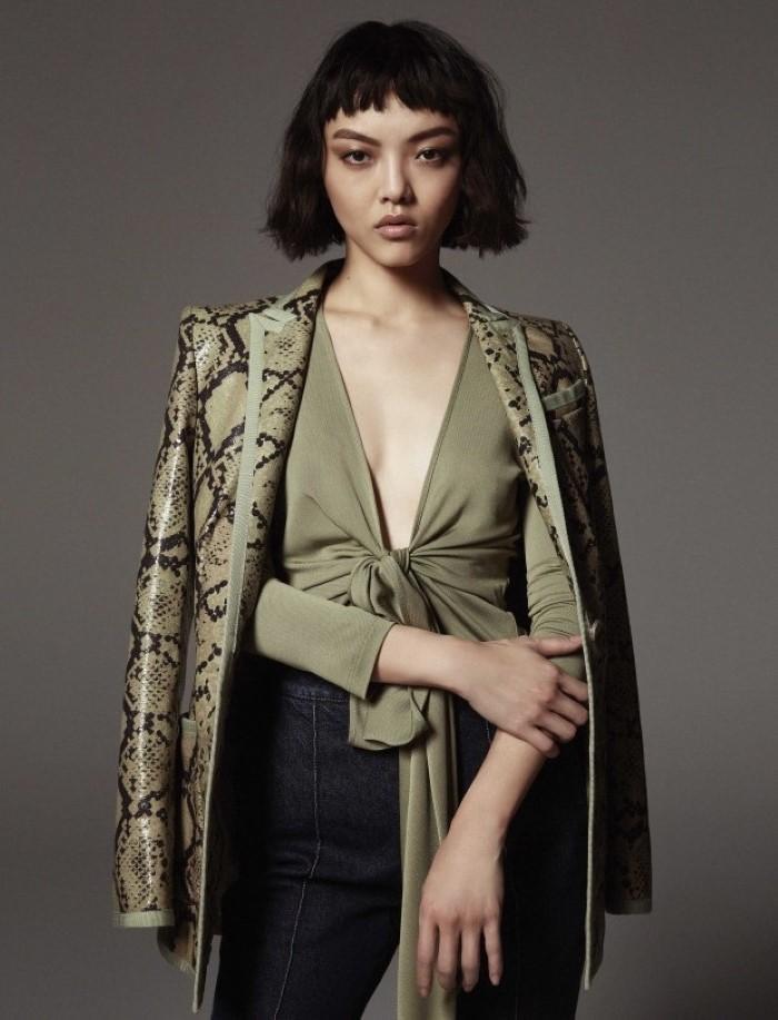 Rila Fukushima Wears Givenchy Resort For Harper S Bazaar